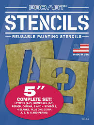 amazon com pro art 6 inch painting stencil set letters and