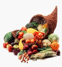 horn of plenty and cornucopia as a symbol of thanksgiving