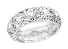 thick wedding bands vintage wedding rings for women womens antique wedding bands