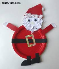 paper plate santa craft craftulate