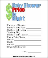 price is right baby shower free printable price is right baby shower