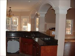 kitchen white and brown kitchen white cabinets black appliances