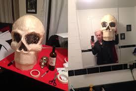 Big Head Halloween Costumes Giant Paper Maché Skull Mask Manning Stuff