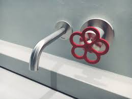 Unlacquered Brass Faucet Waterworks by Boffi Pipe Red Stainless Faucet Bathroom Sink Groombridge