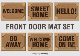 Funny Welcome Mats Welcome Mat Vector Set Download Free Vector Art Stock Graphics