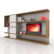 tv wall unit 3d obj