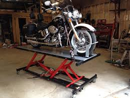 Motorcycle Bench Lift Diy Motorcycle Lift Do It Your Self