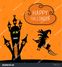 haunted house happy halloween witch black stock vector 314841590