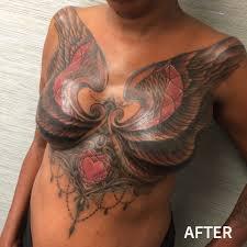 mastectomy tattoo post mastectomy tattoos garnet tattoo