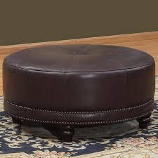 lazzaro leather cindy round leather ottoman u0026 reviews wayfair
