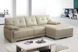 White Leather Sectional Sofa With Chaise Small White Leather Sectional Foter