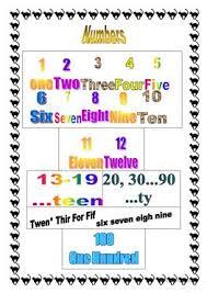 10 free esl numbers 1 100 worksheets