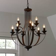 9 Bulb Chandelier Camilla 9 Light Candle Style Chandelier Chandeliers Bulbs And Steel
