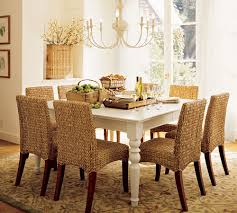 decorating charming seagrass dining chairs with brown legs plus