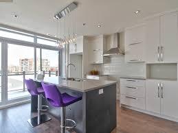 cuisine au gaz cuisine moderne avec comptoir de quartz facile d entretien