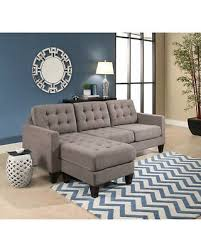 Abbyson Sectional Sofa Amazing Deal On Abbyson Easton Grey Fabric Reversible Sectional