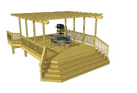 Deck Plans With Pergola by Amazing Pergola That Covers The 16x16 2nd Level Deck Area These
