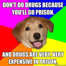 don t do drugs because you ll go prison and drugs are very very