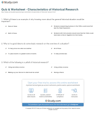 example of methodology in thesis quiz worksheet characteristics of historical research study com definition method steps worksheet