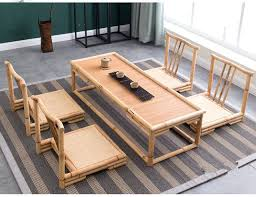 japanese style furniture set modern bamboo furniture sets floor Japanese Style Coffee Table