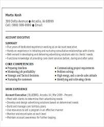 Account Executive Resume Sample by 50 Business Resume Examples Free U0026 Premium Templates