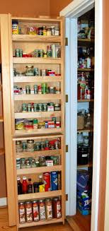 Spice Cabinets With Doors Kitchen Varnished Oak Wood Pantry Door Spice Racks With