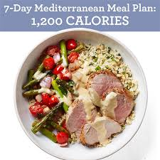 7 day mediterranean meal plan 1 200 calories eatingwell