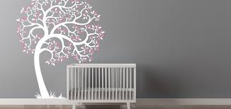 Cherry Blossom Tree Wall Decal For Nursery Colors Tree Wall Decals For Baby Nursery Plus Cheap Tree Wall