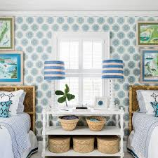 Blue And White Bedrooms Blue And White Beach House Decorating Coastal Living