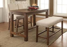 long counter height table furniture ville bronx ny sania natural tone counter height table w