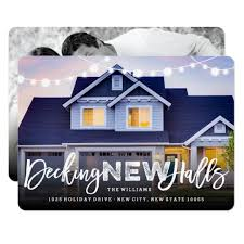 decking new halls moving announcement card zazzle