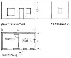 floor plan and elevation drawings creatinga3dsketchfrom2dplans learningtodrawbuildings