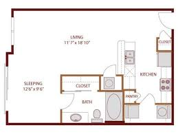 400 Sq Ft Studio Apartment Ideas 569 Sq Ft Studio Apartment Layout I Like The Galley Kitchen