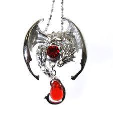 silver crystal pendant necklace images Fafnir sterling silver 925 red crystal dragon pendant necklace jpg