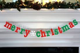 merry christmas banner photo booth props diy garlands for 2015