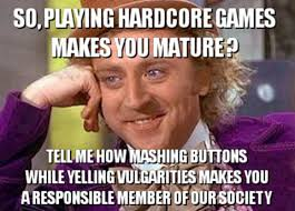 Willy Wonka Tell Me More Meme - condescending creepy wonka hardcore gamers condescending wonka