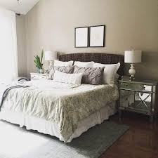 bedroom black modern style table lamp brown carpet light brown