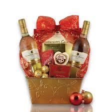 christmas wine gift baskets white christmas wine duo gift basket