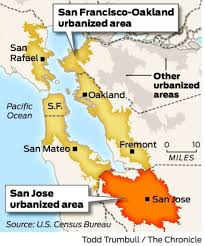 San Francisco In Us Map by California Cities Most Densely Populated In U S Sfgate