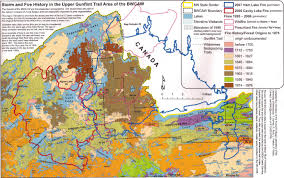 Wildfire History by Bwca Burn Areas Boundary Waters Trip Planning Forum