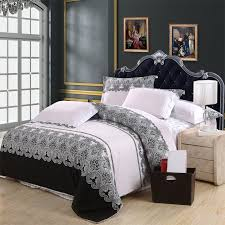 Black And White Damask Duvet Cover Queen Black White And Grey Western Paisley Park Tribal Print Vintage