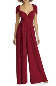 dessy collection convertible wide leg jersey jumpsuit regular