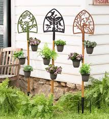 Garden Wall Railings by Plant Stand Decorative Plant Holders Metal For Railings Wall