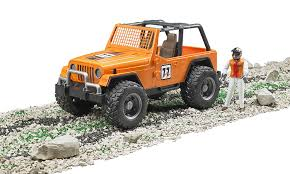 orange jeep 2016 amazon com bruder jeep cross country racer vehicle with driver