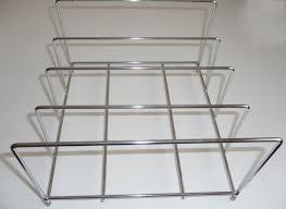 lakeland chrome bakeware organiser storage rack holds up to 8