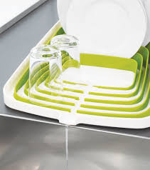Bed Bath And Beyond Dish Rack Amazon Com Joseph Joseph Arena Self Draining Dishrack White And