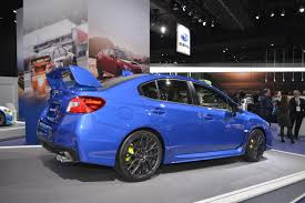 blue subaru wrx 2018 subaru wrx and wrx sti debut in detroit autoevolution