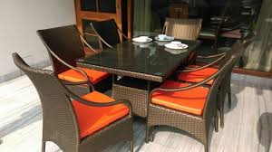 dining wicker set outdoor rattan chairs and table sets