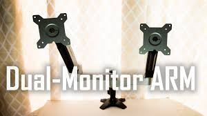 Optimize Your Dual Monitor Setup Silverstone Lcd Desk Arm