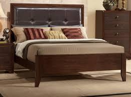 Bedroom Furniture Marble Top Nightstands B201 Bedroom Set In Brown Cherry W Faux Marble Top Casegoods